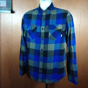 VANS Flannel Long Sleeve Button Down Shirt